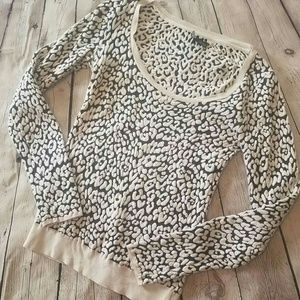 UO Sparkle & Fade Cheetah Print Sweater